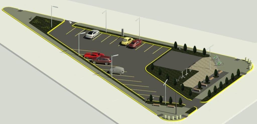 Se construirá un nuevo estacionamiento público con estación saludable sobre Pellegrini