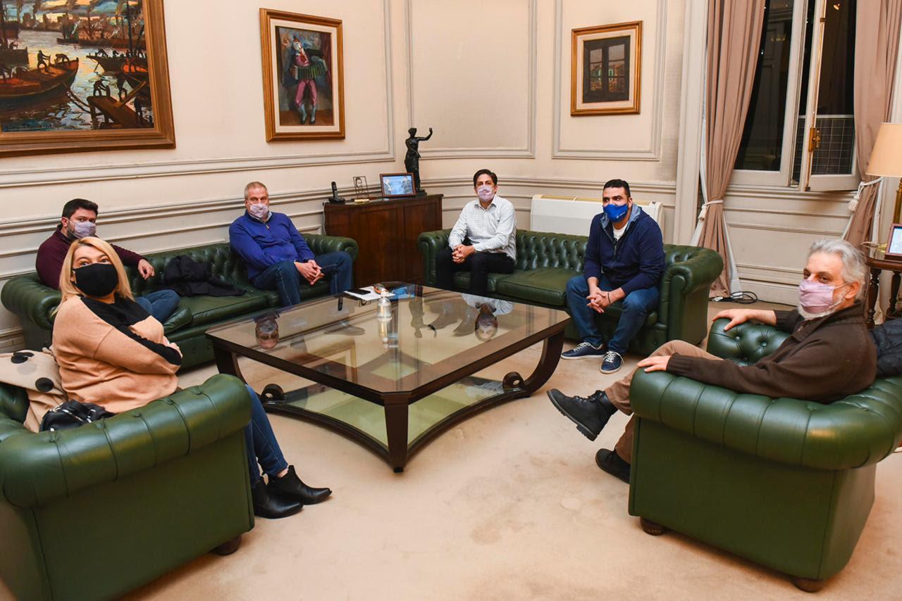 Vuoto junto al ministro Nicolás Trotta se reunieron con el rector de la UNTDF, Daniel Fernández