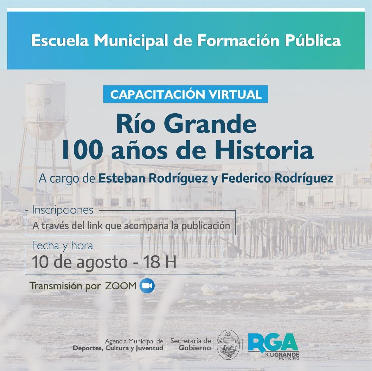 Se brindará una capacitación para docentes sobre la historia de Río Grande